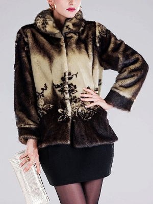 Floral-print Ombre/Tie-Dye Fur and Shearling Coat_7