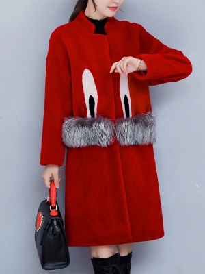 Pockets Fluffy Buttoned Fur and Shearling Coat_10