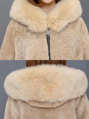 Pockets Zipper Hoodie Fluffy Fur and Shearling Coat_8