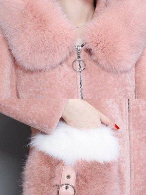Shift Zipper Pockets Hoodie Fur and Shearling Coat_7
