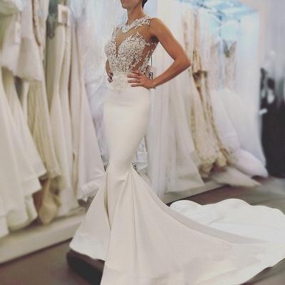 Sexy Mermaid Sleeveless Wedding Dresses |Open Back Wedding Dresses Online Cheap_4