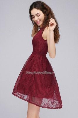 Lo nuevo de encaje sin mangas ilusión una línea de vestido de fiesta de color burdeos_1