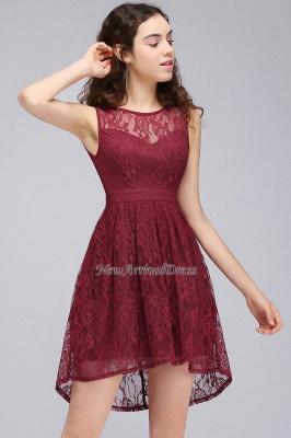 Lo nuevo de encaje sin mangas ilusión una línea de vestido de fiesta de color burdeos_5