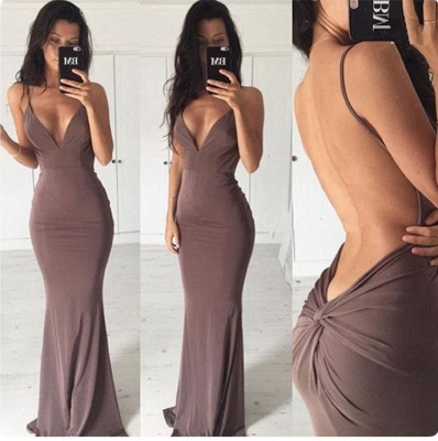 Sexy Backless Close-fitting Long Summer Dress New Spaghetti Strap Party Gowns BA3549_3