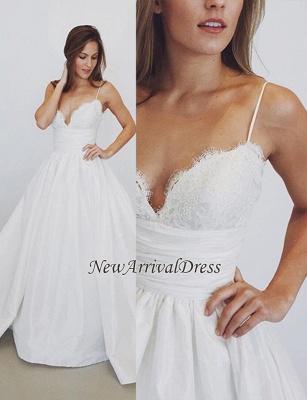 Lace Sexy Spaghetti Straps Elegant A-Line Wedding Dresses Cheap_1