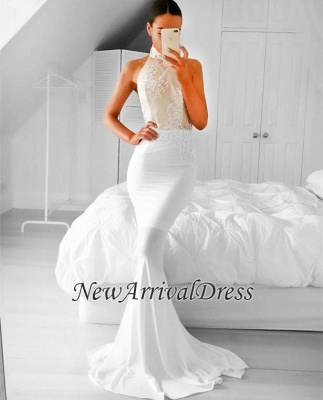 8303937a261 Halter Sleeveless Appliques Simple Mermaid Prom Dress EM0  Item Code   D153413447952823