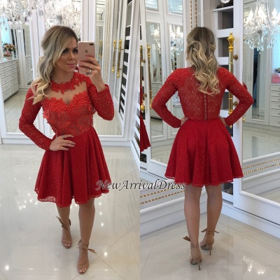 Red Short Party Dresses with Straps
