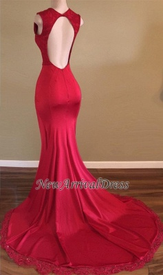 Beads Sleeveless V-neck New Arrival Open Back Evening Gowns | Red Front Split Prom Dresses Cheap sp0294_1