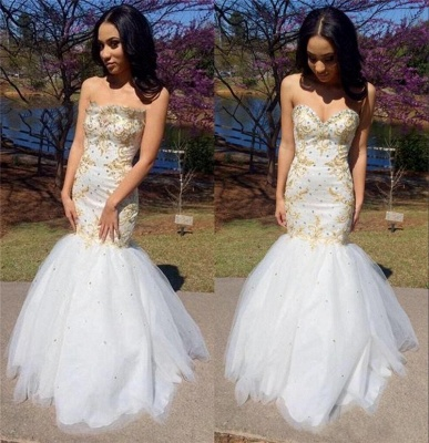 Pretty Sweetheart Mermaid Prom Dress | Ruffles Prom Dress_3