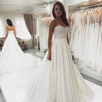 2020 Robe de mariée en satin et dentelle glamour | Robe de mariée pas chère BC0715_3