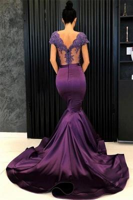 Robes de soirée sexy col en V à manches courtes 2020 | Sirène baguettes longues robes de soirée_3