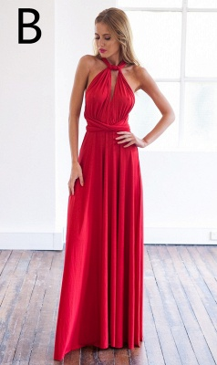 Sexy A-line Sleeveless Red Detached Prom Dress Floor-length_3