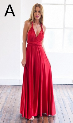 Sexy A-line Sleeveless Red Detached Prom Dress Floor-length_2