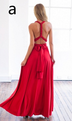 Sexy A-line Sleeveless Red Detached Prom Dress Floor-length_4