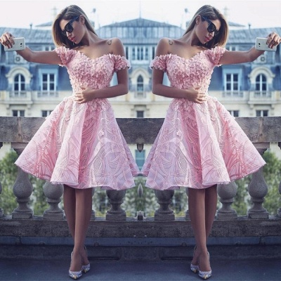 Lovely Off-the-Shoulder Homecoming Dress |Short Prom Dress Online_3