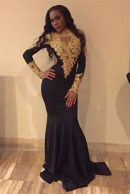 Gold Long Sleeve Prom Dresses Newarrivaldresscom