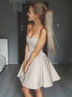 Cute Sweetheart Sleeveless A-line Homecoming Dress |Short Simple Formal Dress_2