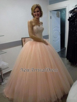 Sweetheart Sequins Beautiful Tulle Ball-Gown Evening Dress_4