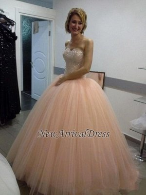 Sweetheart Sequins Beautiful Tulle Ball-Gown Evening Dress_3