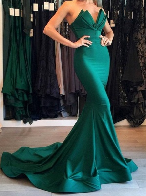 Designer Green Mermaid Evening Dress Long Party Gowns On Sale BA7134_1