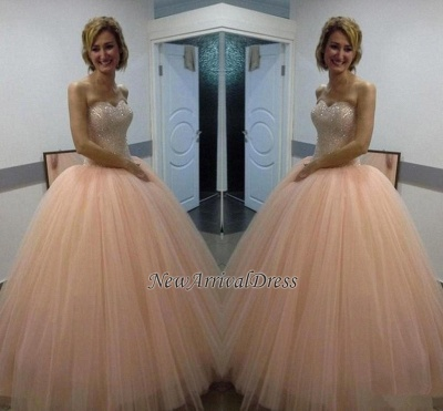 Sweetheart Sequins Beautiful Tulle Ball-Gown Evening Dress_1