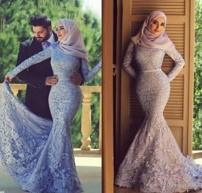 cdccbe4f326 Long Sleeves Lace Mermaid Muslim Prom Dresses Elegant Islamic Evening Gowns   Item Code  D153793205571090