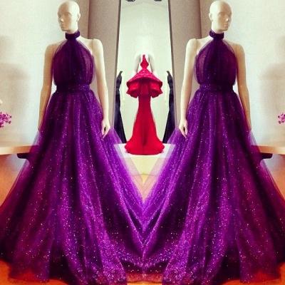 New Arrival High Neck Custom Made A-line Sleeveless Prom Dresses Cheap_3