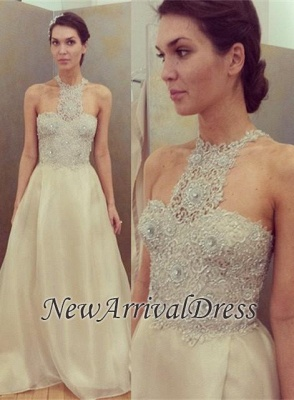 Gorgeous Sleeveless Long Designer Lace Beadings Prom Dress_3