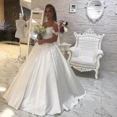Gorgeous Ball Gown New Arrival Lace  Elegant Wedding Dresses | Off The Shoulder Bridal Gown_3