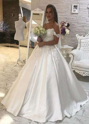 Gorgeous Ball Gown New Arrival Lace  Elegant Wedding Dresses | Off The Shoulder Bridal Gown_1