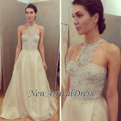 Gorgeous Sleeveless Long Designer Lace Beadings Prom Dress_1