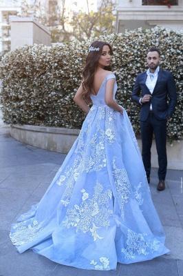 Lace Elegant Floor-Length Off-the-shoulder Evening Dress_3