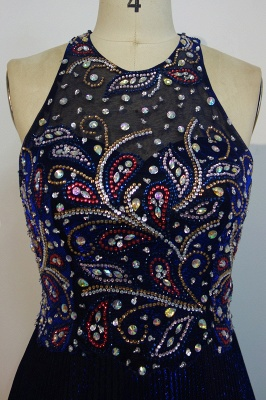 Gorgeous Beads Custom Made A-line Sequined Sleeveless Prom Dresses Cheap   Stunning Prom Dresses Cheap_4