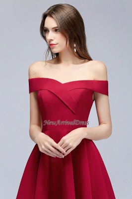 Sweetheart Length A-Line Off-the-Shoulder Knee Homecoming Dresses_6