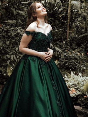 7fd6aa901d6 Elegant Dark Green Puffy Prom Dresses