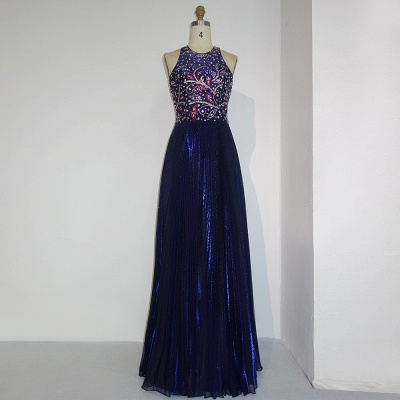 Gorgeous Beads Custom Made A-line Sequined Sleeveless Prom Dresses Cheap   Stunning Prom Dresses Cheap_5