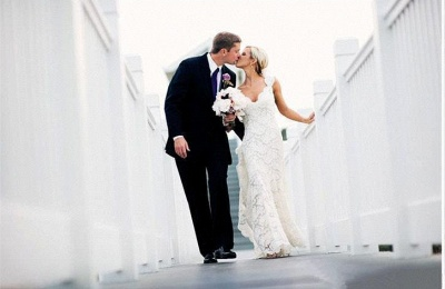 Stunning Full Lace Wedding Dresses Cheap | Backless Sleeveless Simple Bridal Gowns Online_5