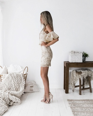 Sexy Spaghetti Strap Bodycon Short Homecoming Dress | Mini Cocktail Gown_3