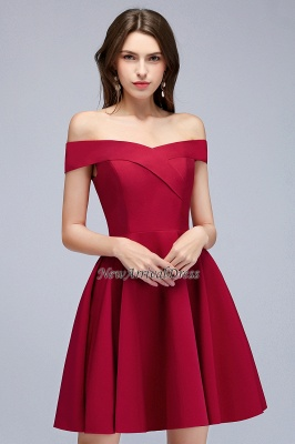 Sweetheart Length A-Line Off-the-Shoulder Knee Homecoming Dresses_5