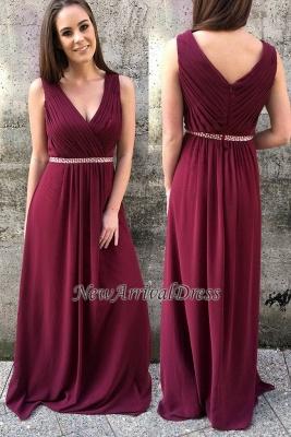 A-line Modern Zipper Straps Sleeveless Beads Prom Dress | Modern Prom Dress_1