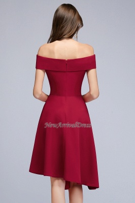 A-Line Sweetheart Hi-Lo Off-the-Shoulder Homecoming Dresses_3