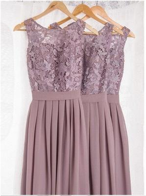 Cheap Lace Bodice Chiffon Long Bridesmaid Dresses_2