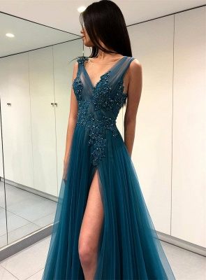 Pretty Straps Sleeveless Lace Prom Dress |Prom Dress BA9368_4