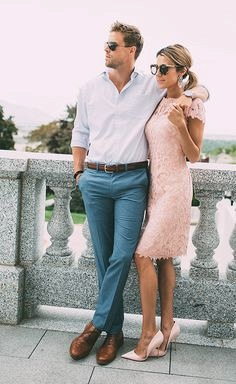 Lace Blushing Pink Formal Dresses | Knee Length Wedding Party Dress Cheap Online_4