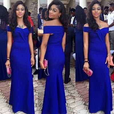 Royal Blue Prom Dresses Off-the-Shoulder  Elegant Evening Gowns_3