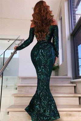 Robes de soirée à manches courtes vertes 2020 | Robes de bal sexy sirène paillettes BC0703_3
