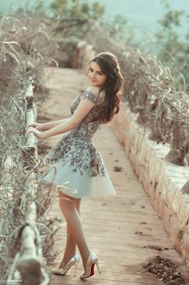 Gorgeous Off the Shoulder Lace Appliqeus Short Prom Dresson Sale_2