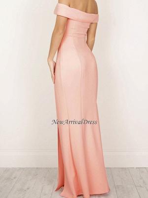 Sheath Elegant Long Off-The-Shoulder Side-Slit Prom Dresses_3