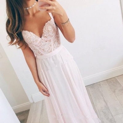 New Arrival Straps Lace Formal Dresses Cheap V-neck Summer Party Gowns BA2665_3