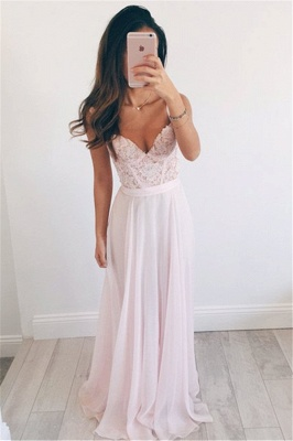 New Arrival Straps Lace Formal Dresses Cheap V-neck Summer Party Gowns BA2665_1